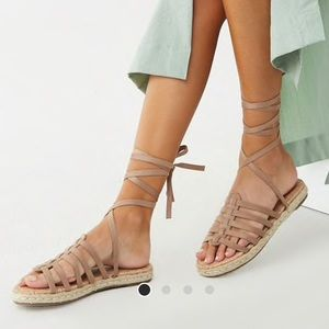 Forever 21 Shoes - Suede Lace Up Sandals!